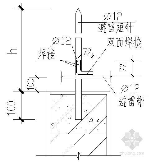 建筑电气防雷接地设备安装大样图
