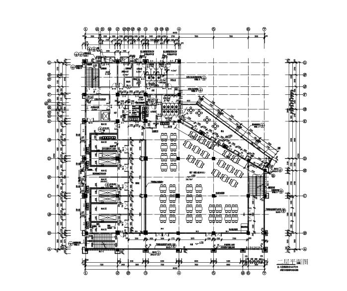 四层框架结构食堂全套施工图(建筑结构水电暖)-一层平面图