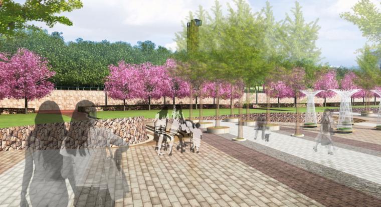 [安徽]含山县山体高差森林公园修建性详细规划设计B-10文化广场效果图