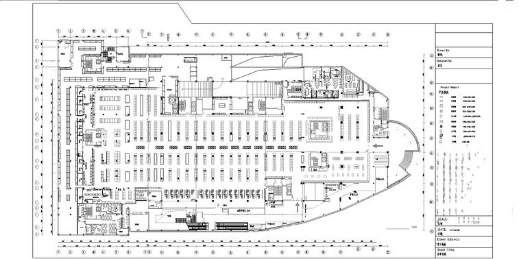 某大型超市建筑设计(施工图CAD)