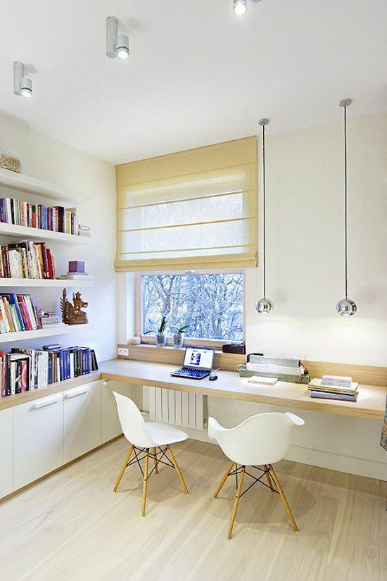 如何在家里挤出一间书房,这4种方案必须收藏!_11