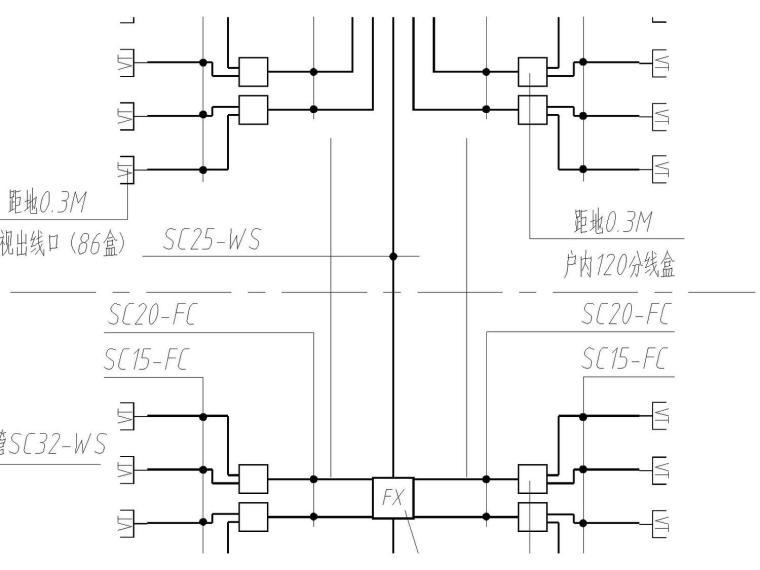 二类高层住宅电气图(包括电力配电系统、动力系统、照明系统)
