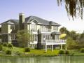 2层独栋别墅建筑方案设计(包含效果图+CAD)