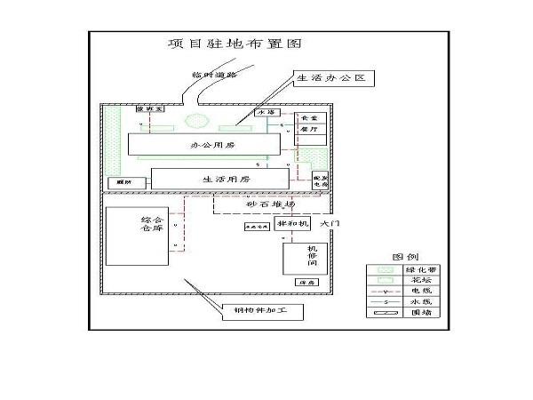 省界杨庄至白泉公路隧道房建工程施工组织设计