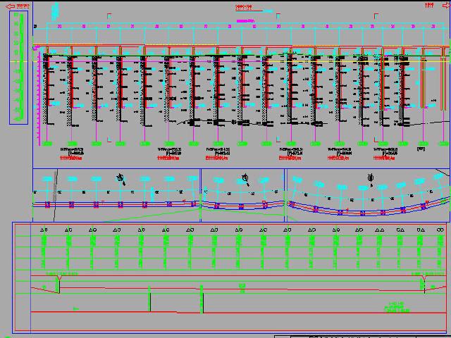 [知名大院]地铁轨道交通高架桥及涉铁桥梁各种跨径连续梁及简支梁施工图近2000张CAD图纸