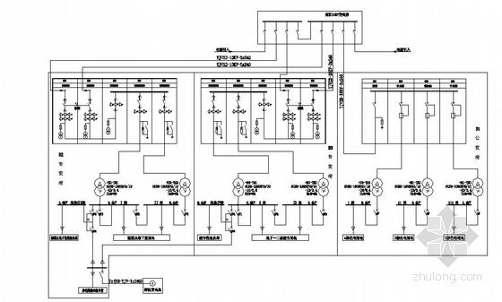 21层住宅楼变配电房系统图