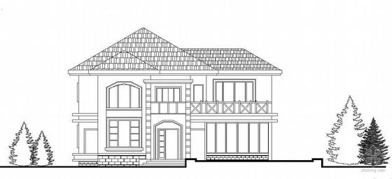 某欧式二层有室外阳台别墅设计方案