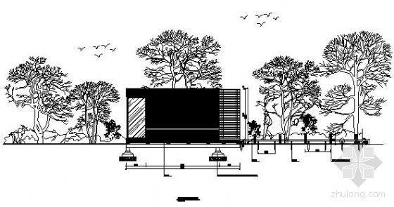 森林公园小木屋施工图