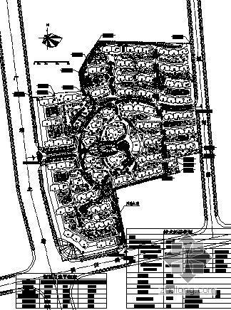 某大型住宅区规划图及效果图