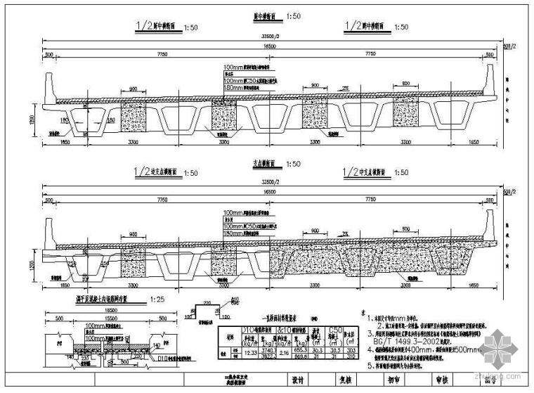 某高速公路小箱梁设计图