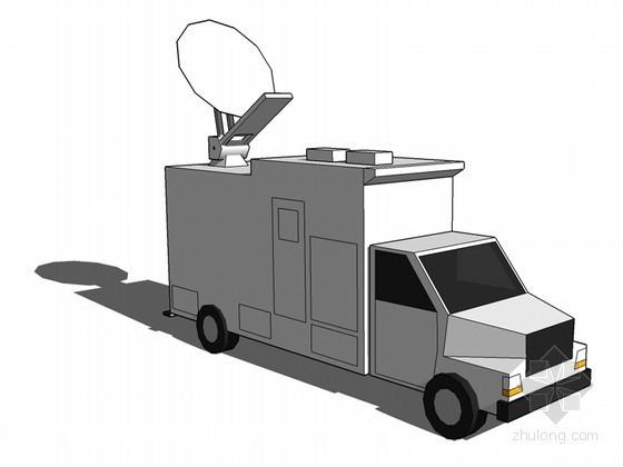 通讯车SketchUp模型下载