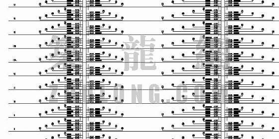 高层住宅楼电气设计图纸(二)