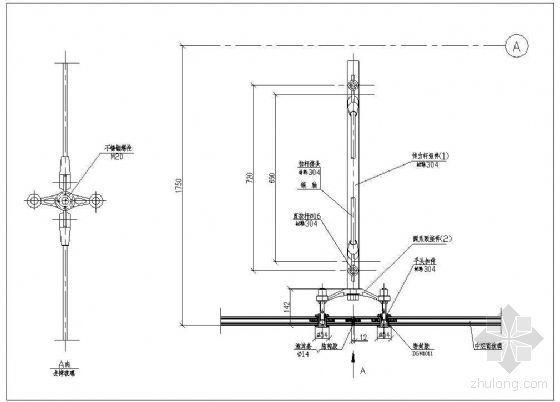 拉杆式点式幕墙节点(三)