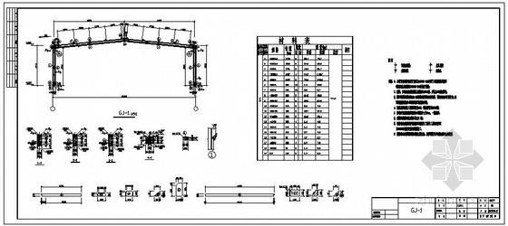 某烟花鞭炮经营站门式钢架结构设计图