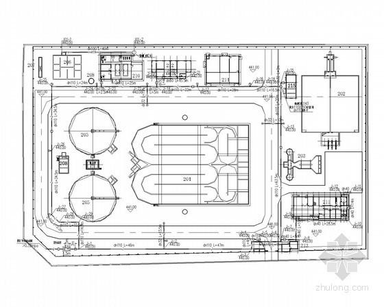 [重庆]污水处理厂施工工艺图(含管网图)