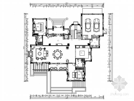 [浙江]两层现代高尔夫别墅室内设计施工图