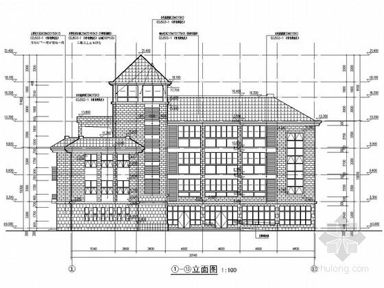 四层框架结构儿童福利中心结构施工图(含详细建筑图)