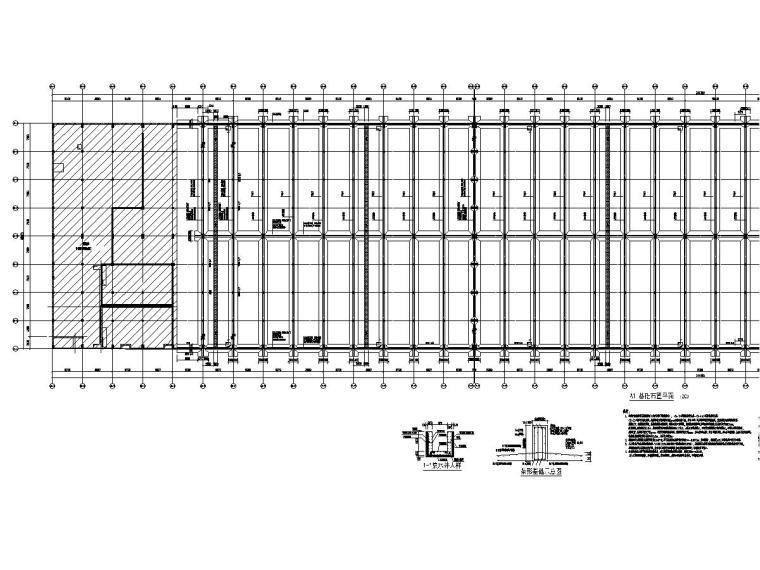 [广州]地上二层框排架结构仓库结构施工图