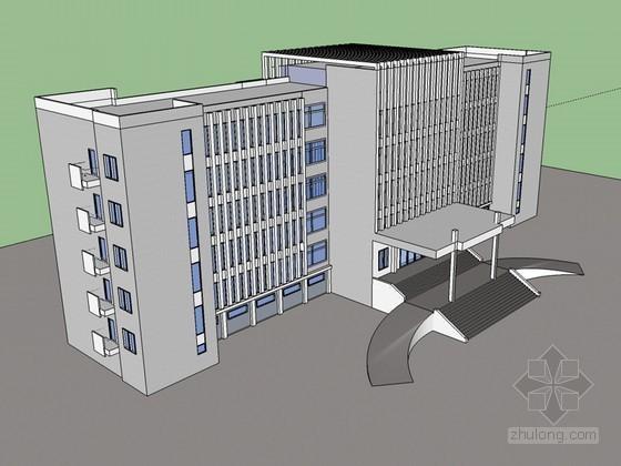 简洁办公建筑SketchUp模型下载