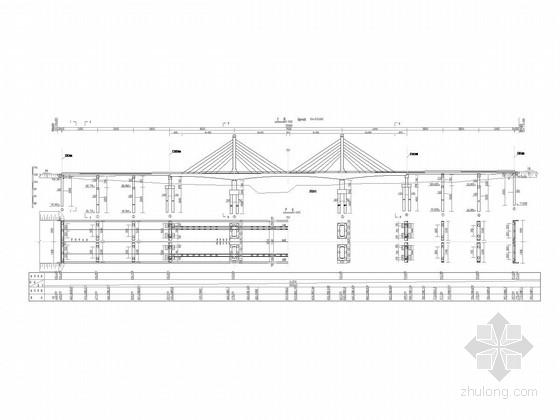 [河南]悬臂现浇45+75+45m预应力变截面连续箱梁及25m连续箱梁桥设计图纸216张