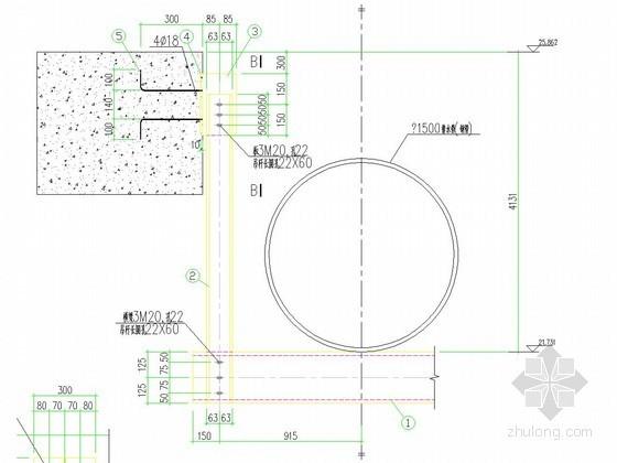[湖北]1500雨水管悬吊架大样图
