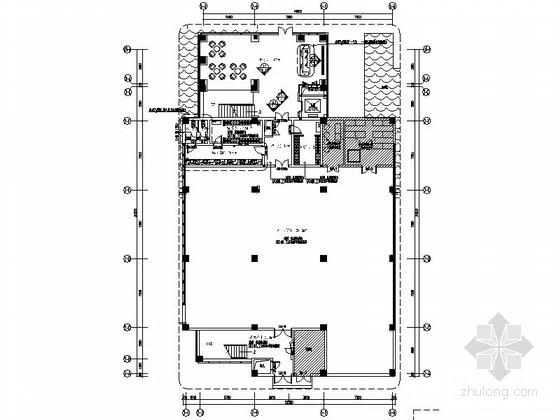 [陕西]浓缩果汁生产企业总部办公楼CAD装修图