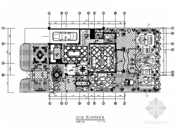 精品法式新古典风格三层别墅室内施工图纸