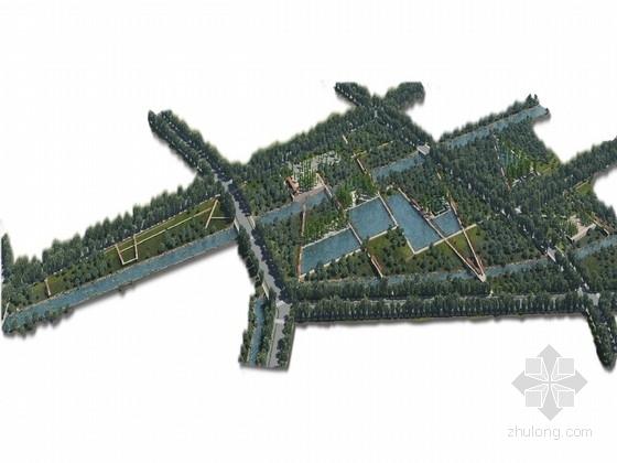 """[嘉定]""""意向通道""""中央公园生态村落相结合景观规划设计方案"""