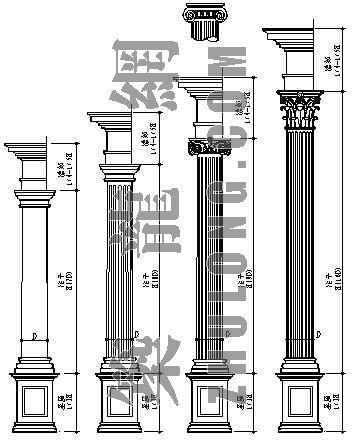 欧式罗马柱