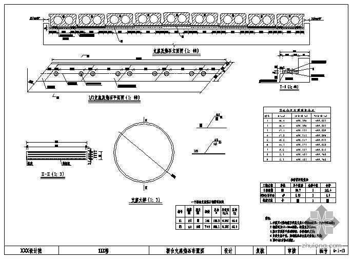 3-13m先简支后连续空心板梁成套cad设计图纸