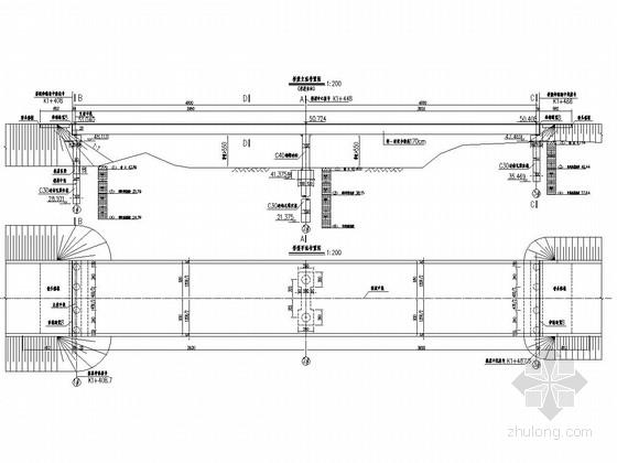 2x40m钢混凝土联合连续梁桥全套施工图(32张)