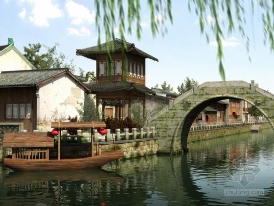 古典园林建筑效果图模型