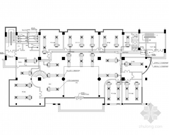 [上海]小高层综合办公楼暖通系统设计施工图