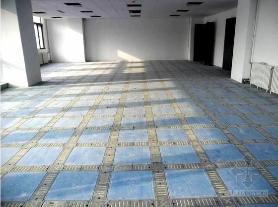 架空活动地板拼装工法(综合布线场合、支架固定)