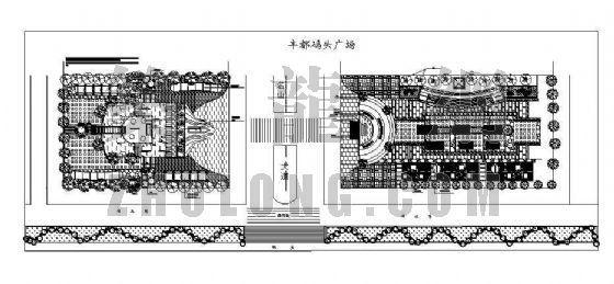 丰都码头广场景观设计图纸