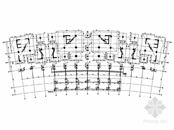21层框剪结构综合服务中心结构施工图(PHC桩基)