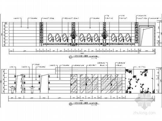 [江苏]历史文化名城高档现代风格星级宾馆装修施工图(含效果)dwg .zip女浴区立面图