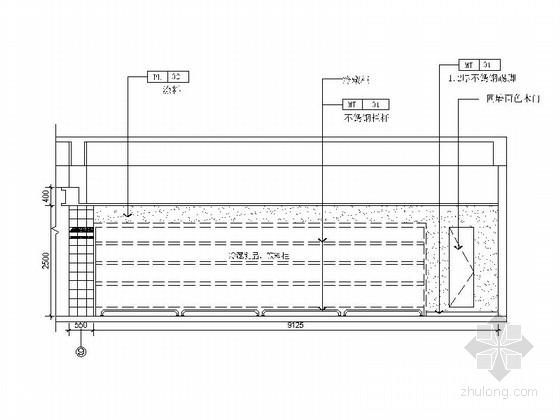 [苏州]商业综合楼内部生鲜店室内装修图 立面图