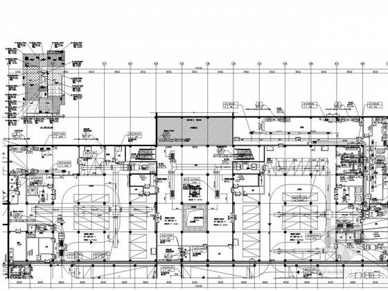 客运中心交通办公楼通风空调排烟系统设计施工图(风冷热泵机组 机房详图多)