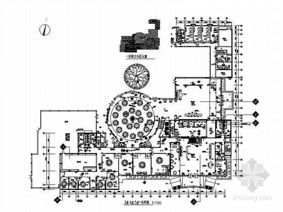 [厦门]某现代风格豪华酒店装修施工图(含效果)