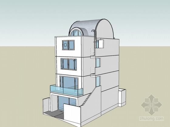 四层住宅建筑SketchUp模型