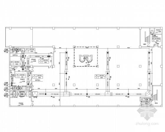 [江苏]中低层办公楼通风空调排烟系统设计施工图(大样图多)
