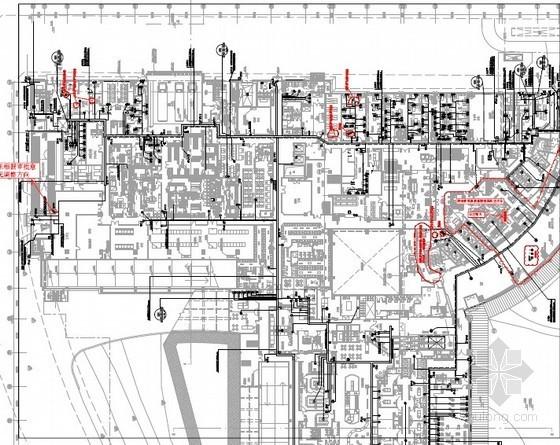 [河北]国际知名五星级酒店弱电点位平面图