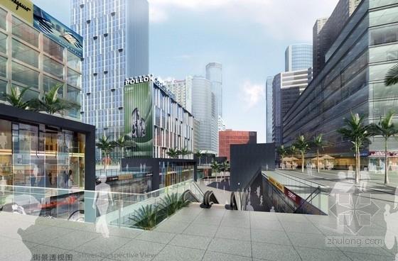 沿街地块规划及高层建筑设计效果图