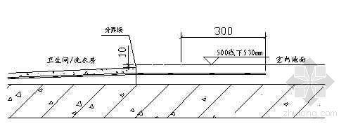 北京某住宅卫生间地面施工技术交底