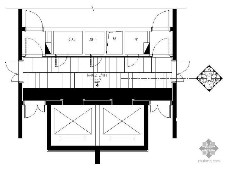 [珠海]商品房标准层电梯间施工图