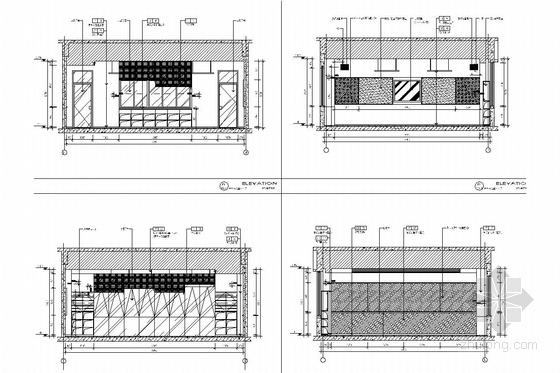 [江苏]省级重点实验中学对外交流中心室施工图 语言研究室立面图