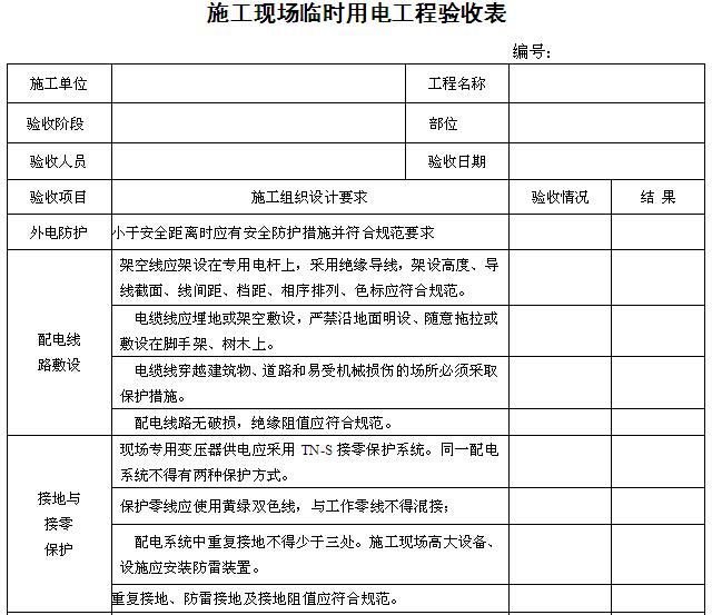 建筑施工单位施工安全管理资料用表(直接套用)_1