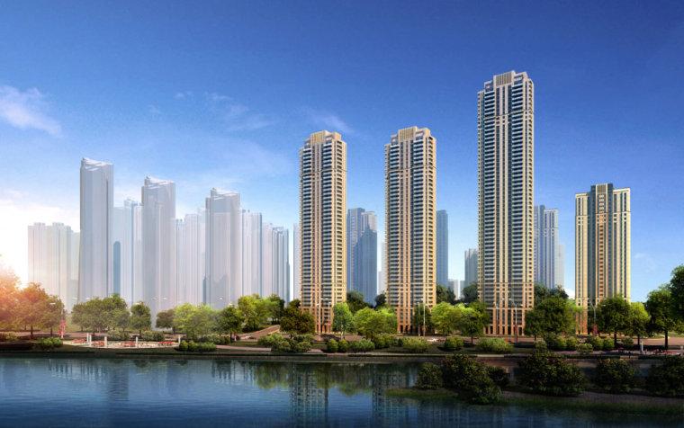 商业街和新古典高层住宅,古典元素,33层\408商业街+新古典高层