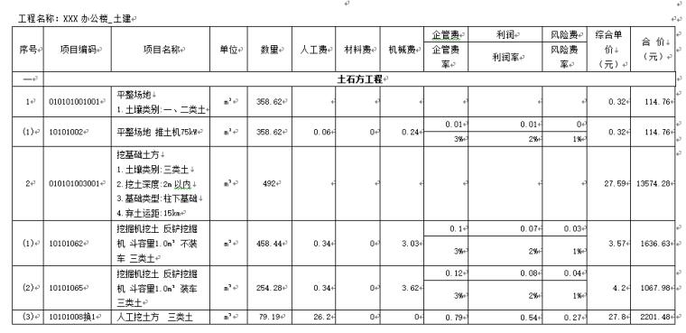 福建XXX办公楼预算书(工程造价毕业设计)_4